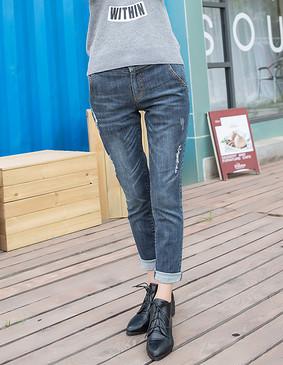 YCCW8-0024 修身显瘦弹力牛仔裤 蓝色 XS