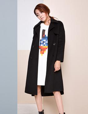 【特惠】 YCDW9-0001 经典款双排扣双面呢大衣 驼色 L