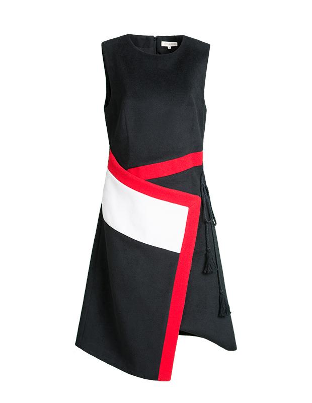 【伊霓裳】YCDL10-521 不规则撞色收腰绑带背心裙