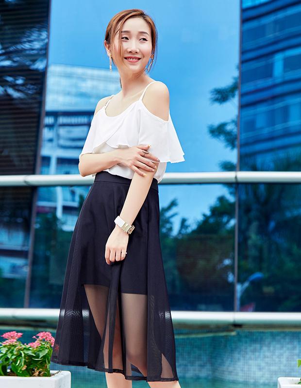 【伊霓裳】YNS67 荷叶浪漫网裙套装