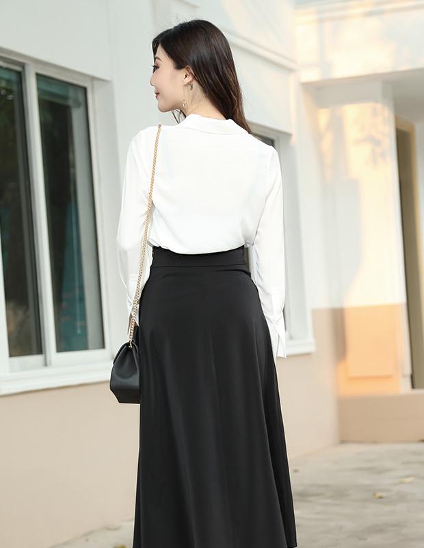 【伊霓裳】YNS109 通勤复古小心机-裙装两件套