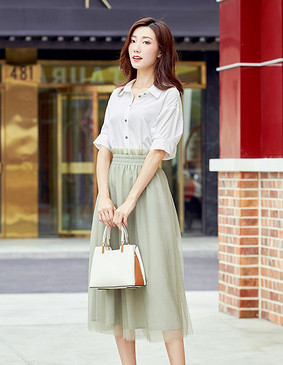 YNS113 法式ins仙气清凉-长裙两件套