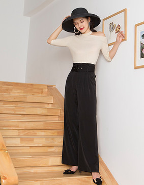 YNS123 初见倾心时尚套装(阔腿裤组合)