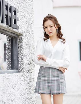 YCAB-001 仿真丝雪纺轻薄衬衣 (赠送无钢圈冰丝文胸) 白色 L