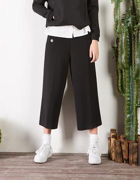 YCCL3-238 水手装宽口裤 黑色 XS