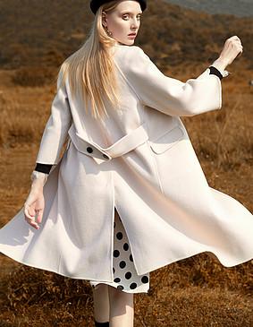 YNS127赫本风气质羊毛呢套装
