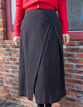 YCCW8-0008 时尚不对称半身裙 黑色 S