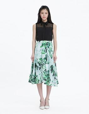 15634 印花长半裙 印花色 S