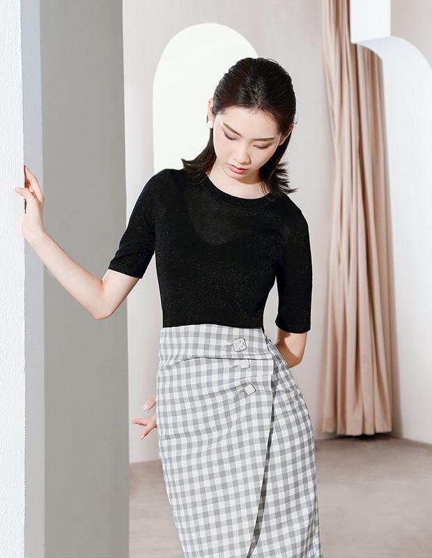 【伊霓裳】YNS120 绝代佳人女神套装(半裙组合)