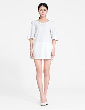 YCCW8-0022 宽松显瘦长T恤 白色 S