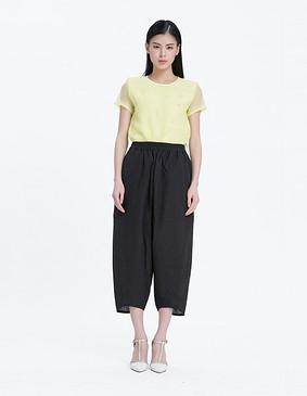15067 个性时尚宽松阔腿裤 黑色 S