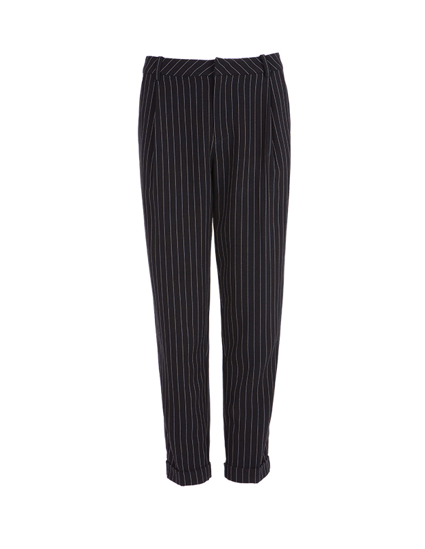 【伊霓裳】服装积分兑换 YCCL1-231 复古竖条纹九分锥形裤