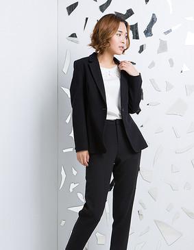 YCCW6-0010 简洁干练西装外套 黑色 S