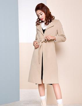 【特惠】 YCDW6-0016 简约弧线解构长款大衣 灰色 L