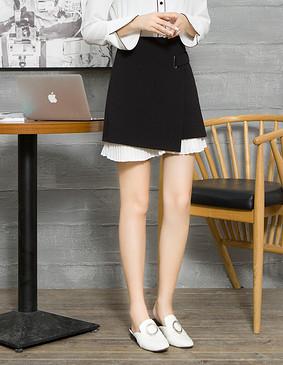 服装积分兑换 YCCQ-014-2 高冷气眼小A裙 黑色 S
