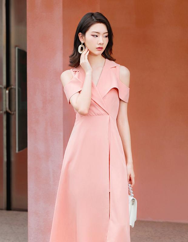 【伊霓裳】D190731-1 怦然心动仪式感连衣裙