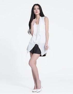 YCAL8-6000 乱麻雪纺背心外套 白色 S