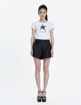 YCAL6-1820 星星针织休闲T恤 白色 S