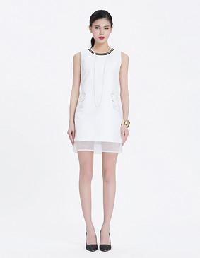 YCAL8-1770 独特时尚连衣裙 白色 S