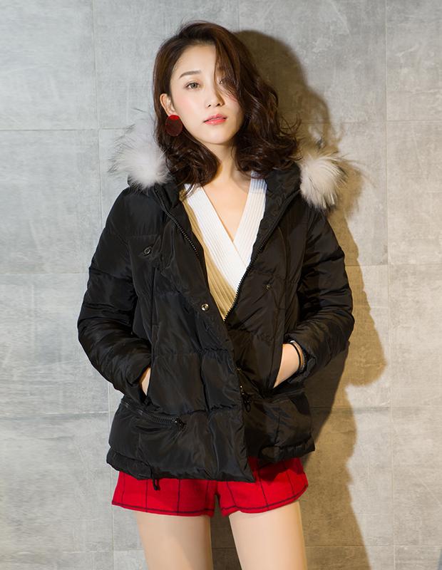 【伊霓裳】YCDL8-421 毛领连帽保暖羽绒服
