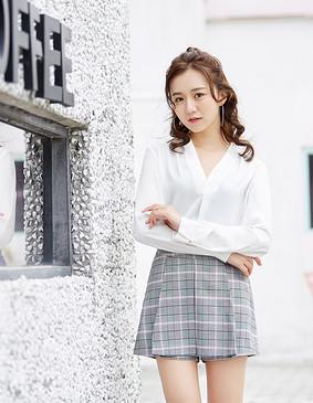 服装积分兑换 YCAB-001 仿真丝雪纺轻薄衬衣 (赠送无钢圈冰丝文胸) 白色 XS