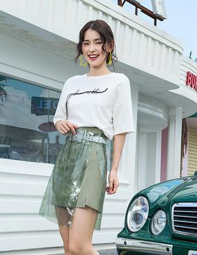 Y190855-1 热恋狙击T恤(女) 珍珠白 2XL